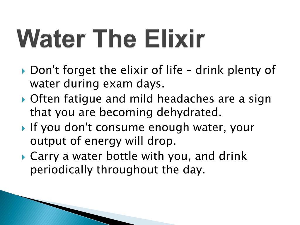 Water The Elixir