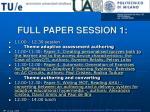 full paper session 1