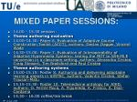 mixed paper sessions