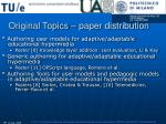 original topics paper distribution