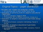 original topics paper distribution18