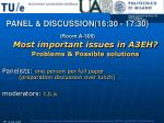 panel discussion 16 30 17 30 room a 306