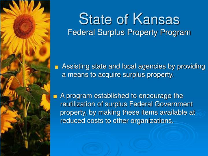 Assisting state and local agencies by providing a means to acquire surplus property.