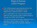 state of kansas leso program