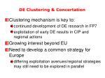 de clustering concertation