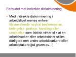 forbudet mot indirekte diskriminering2