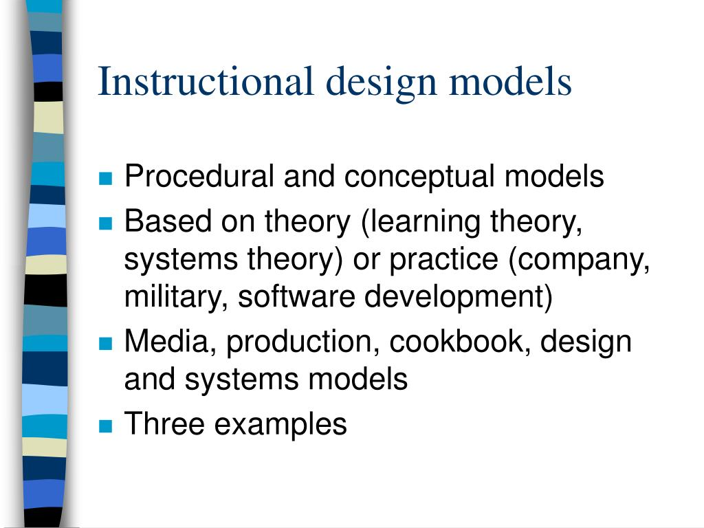 learning theories and instructional design essay Today's big idea is about theories – the different between descriptive theories and prescriptive theories and two specific types of theories: learning theories and instructional-design theories.