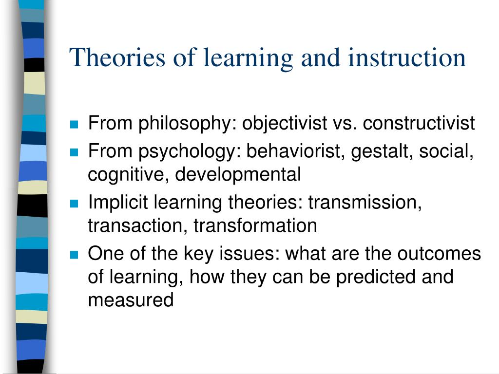 theories of learning While the behavioral theories of learning suggested that all learning was the result of associations formed by conditioning, reinforcement, and punishment, bandura's social.