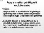 programmation g n tique volutionnaire