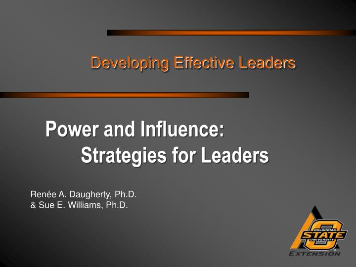 power and influence strategies for leaders n.