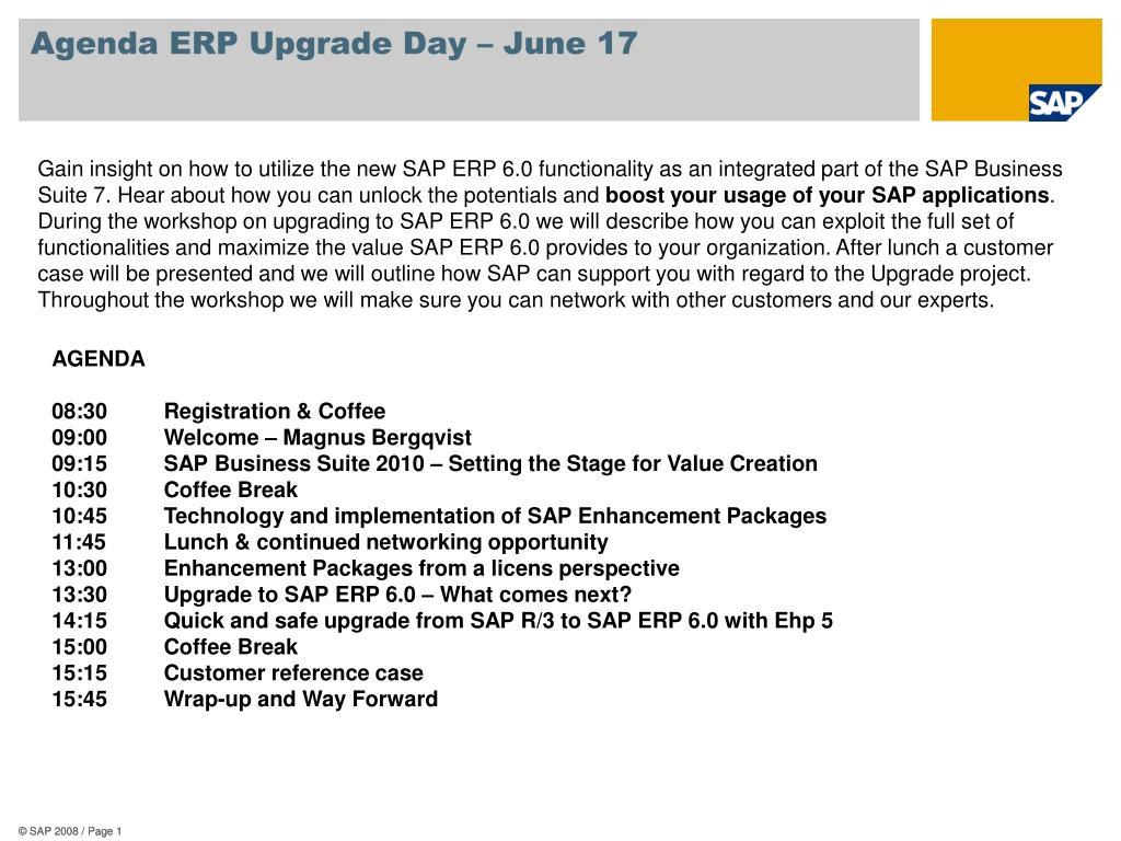 agenda erp upgrade day june 17 l.