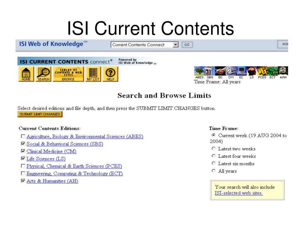 ISI Current Contents