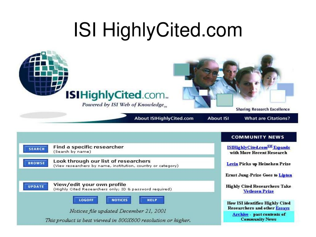 ISI HighlyCited.com