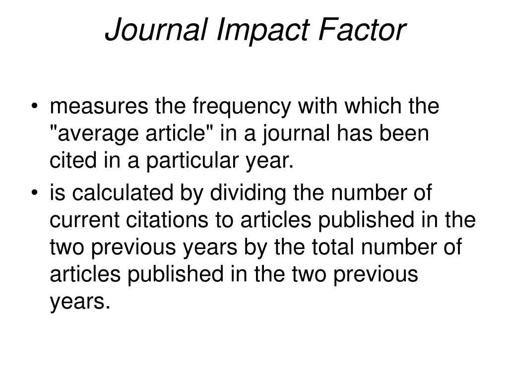 Journal Impact Factor