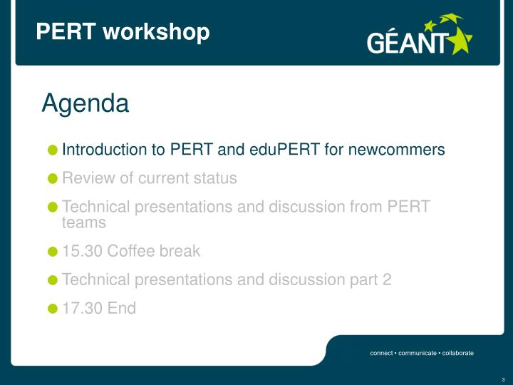 Pert workshop3