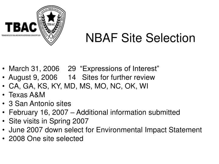 """March 31, 200629  """"Expressions of Interest"""""""