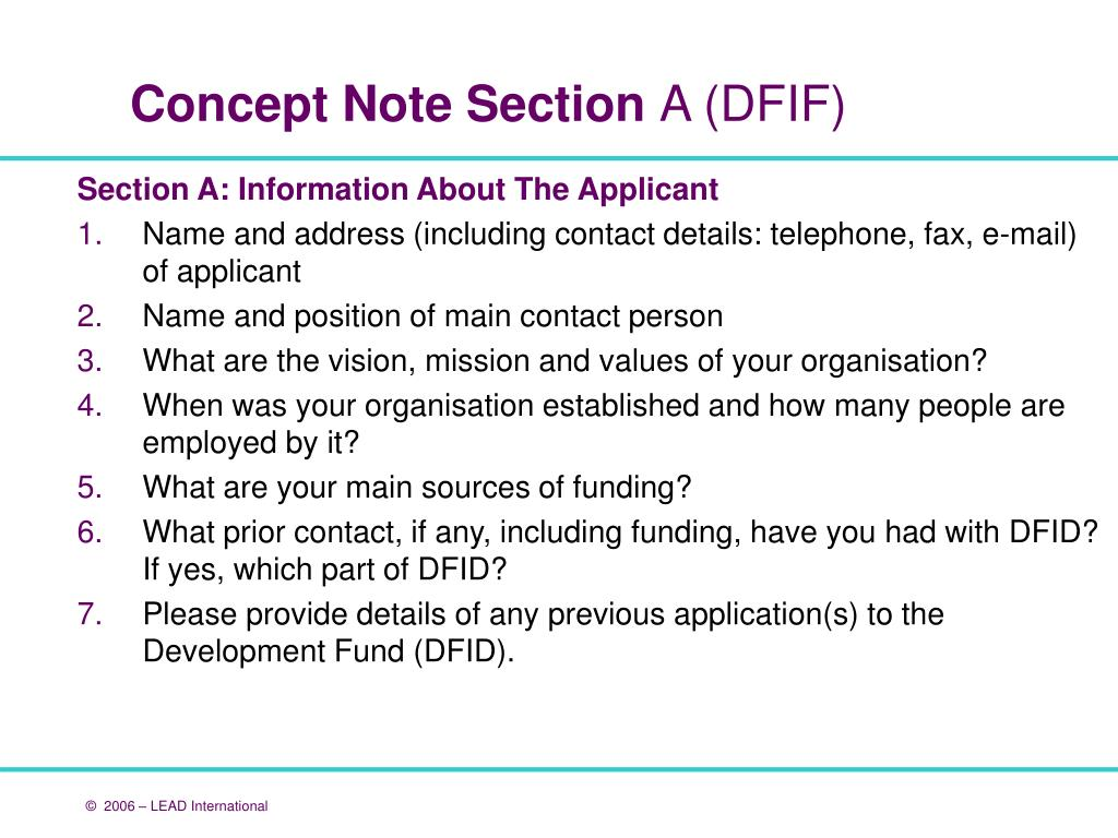 Section A: Information About The Applicant