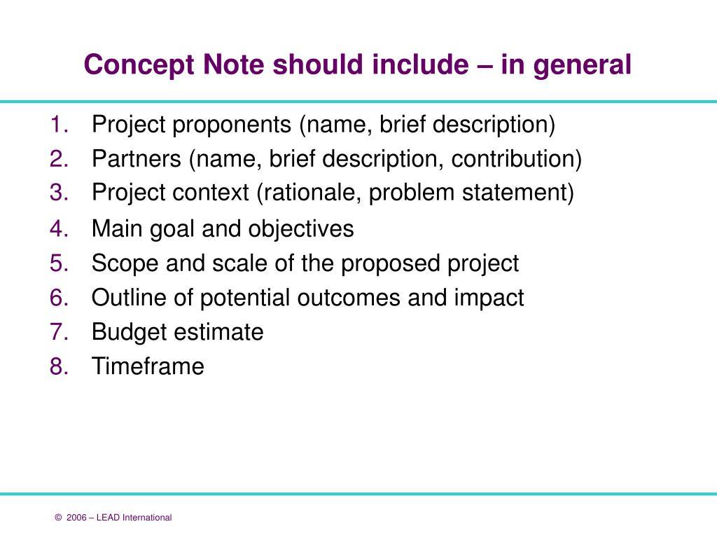 Project proponents (name, brief description)