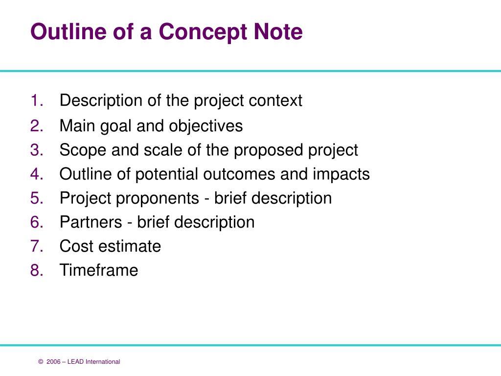 Description of the project context