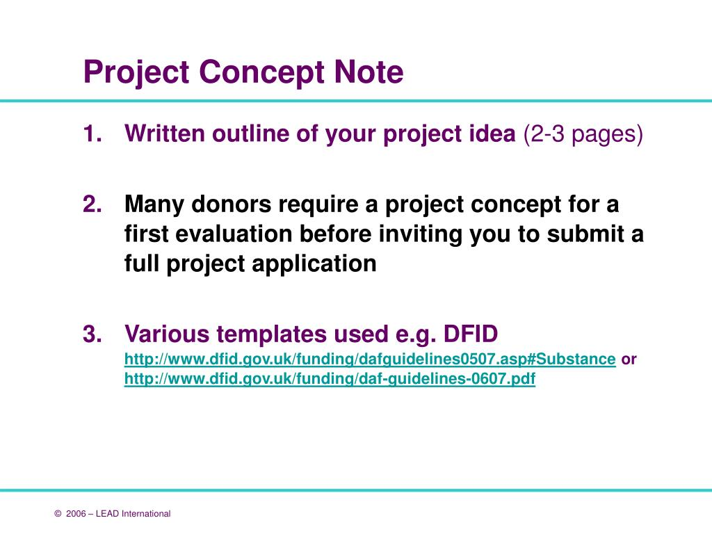 Written outline of your project idea