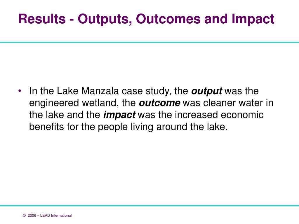 In the Lake Manzala case study, the