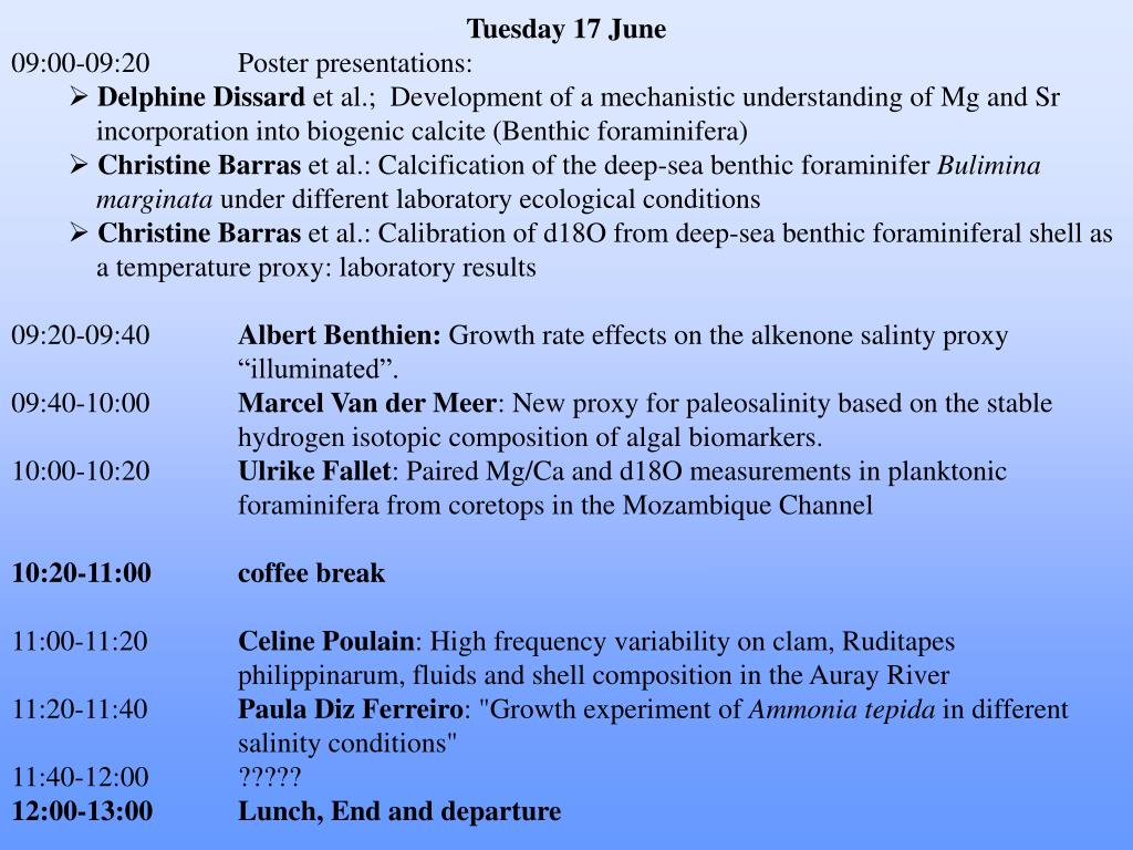 Tuesday 17 June