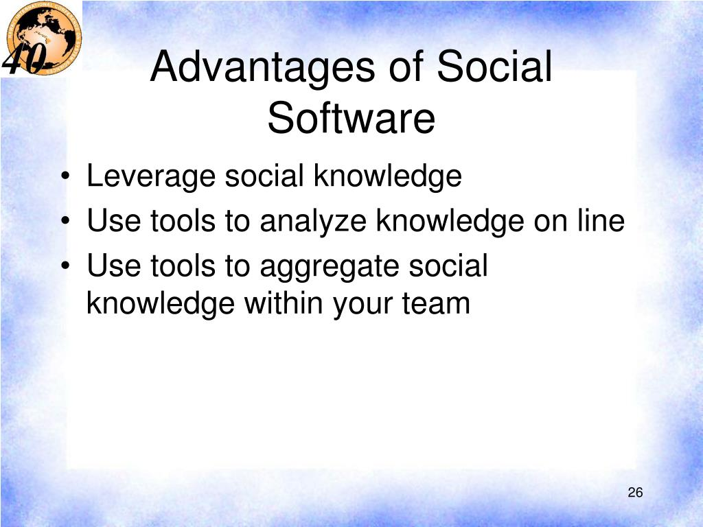 Advantages of Social Software