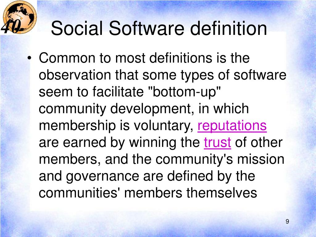 Social Software definition