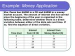 example money application