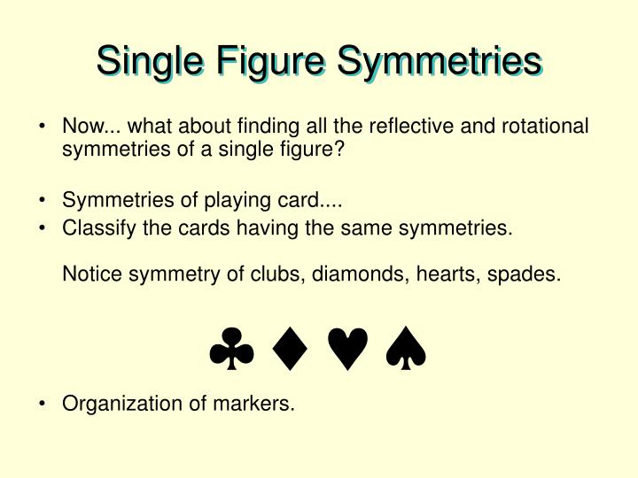 Single Figure Symmetries