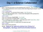 day 1 e science collaboration