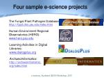 four sample e science projects