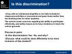 is this discrimination1