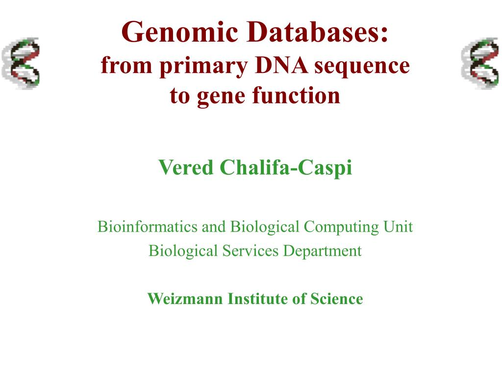 Genomic Databases: