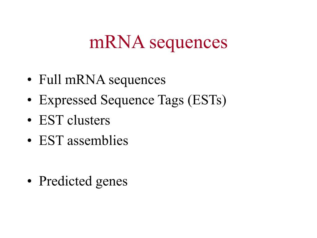 mRNA sequences