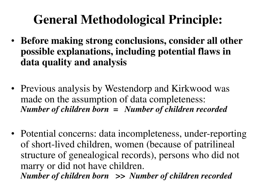 General Methodological Principle: