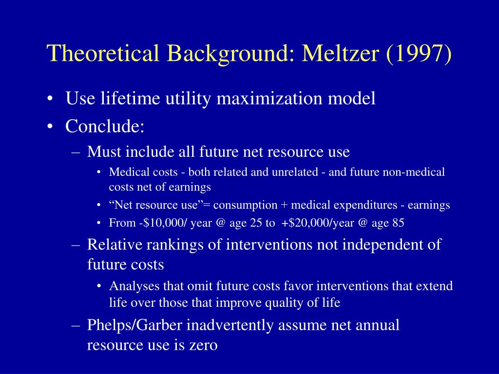 Theoretical Background: Meltzer (1997)