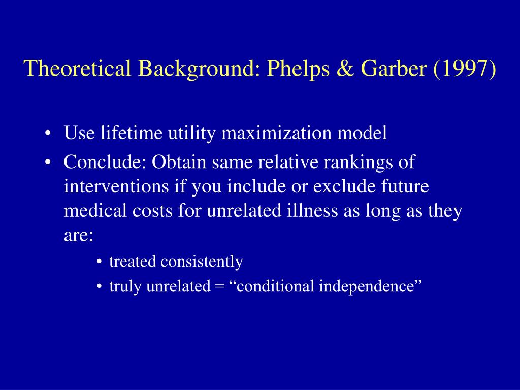 Theoretical Background: Phelps & Garber (1997)