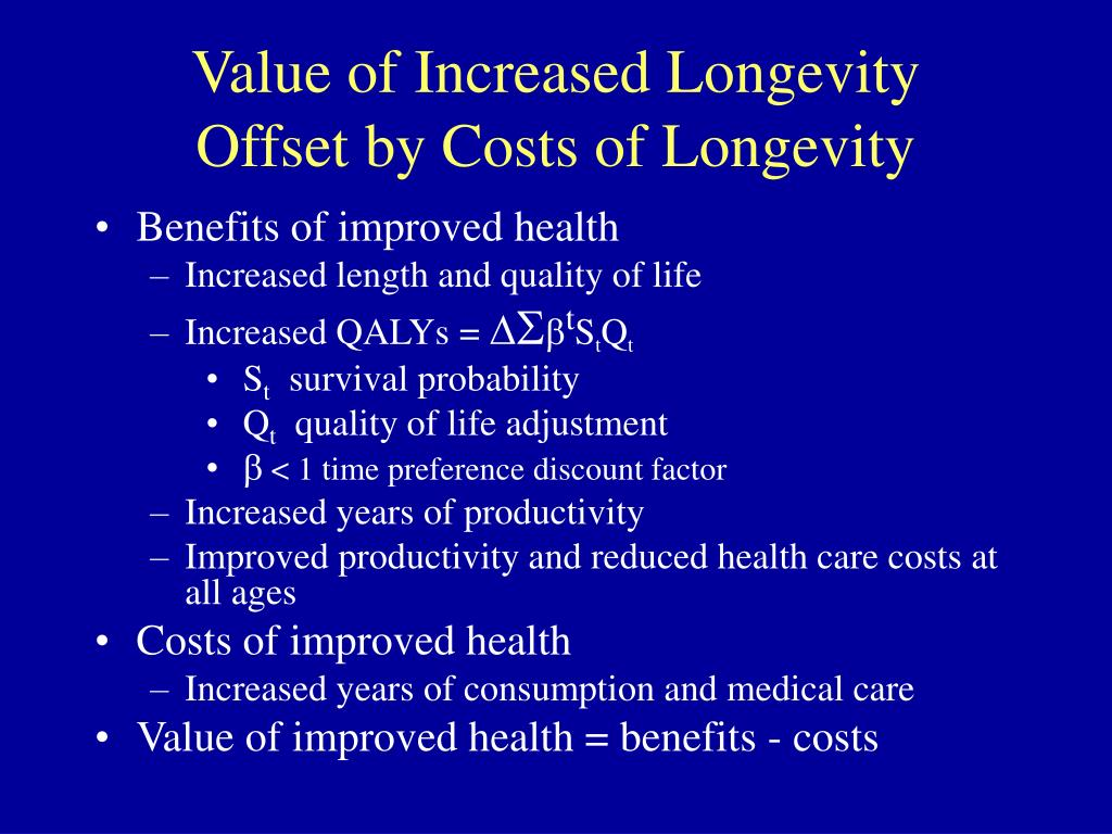 Value of Increased Longevity