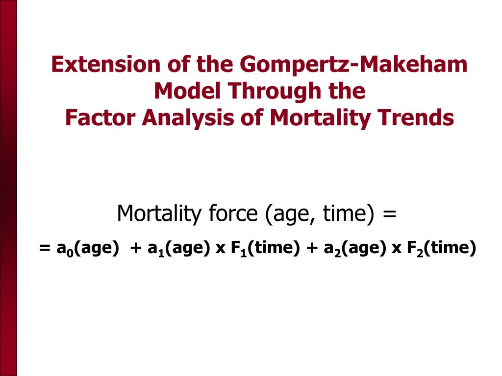Extension of the Gompertz-Makeham Model Through the