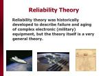 reliability theory