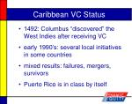 caribbean vc status