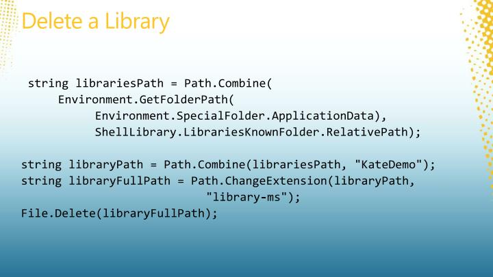 Delete a Library