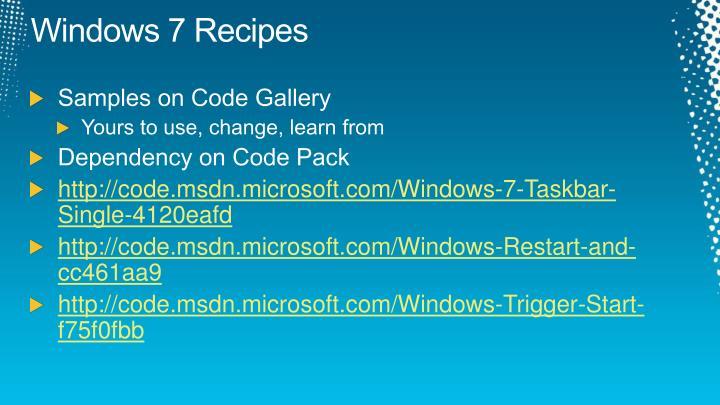 Windows 7 Recipes