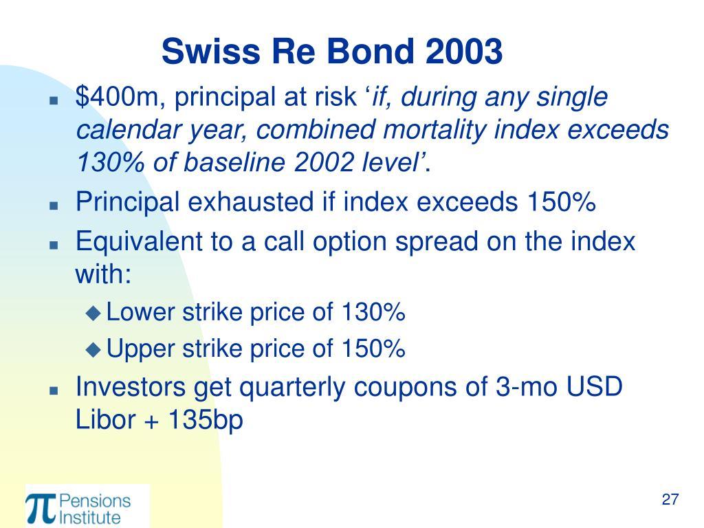 Swiss Re Bond 2003