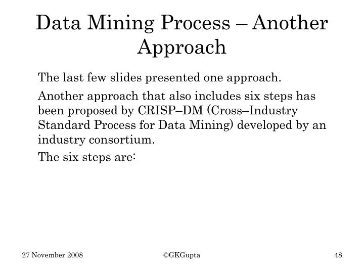 Data Mining Process – Another Approach