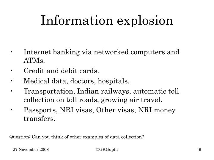 Internet banking via networked computers and ATMs.