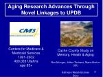 aging research advances through novel linkages to updb