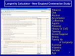 longevity calculator new england centenarian study
