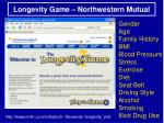 longevity game northwestern mutual